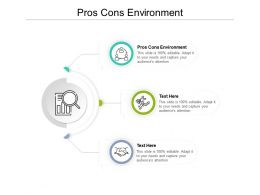 Pros Cons Environment Ppt Powerpoint Presentation Slides Example Cpb