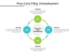 Pros Cons Filing Unemployment Ppt Powerpoint Presentation Inspiration Good Cpb