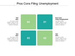 Pros Cons Filing Unemployment Ppt Powerpoint Presentation Layouts Examples Cpb