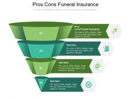 Pros Cons Funeral Insurance Ppt Powerpoint Presentation Layouts Microsoft Cpb