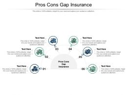 Pros Cons Gap Insurance Ppt Powerpoint Presentation Ideas Outfit Cpb
