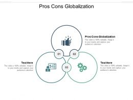 Pros Cons Globalization Ppt Powerpoint Presentation Pictures Sample Cpb