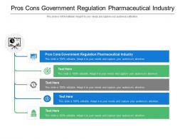 Pros Cons Government Regulation Pharmaceutical Industry Ppt Powerpoint Presentation Model Graphics Example Cpb