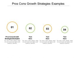 Pros Cons Growth Strategies Examples Ppt Powerpoint Presentation Inspiration Cpb