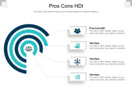 Pros Cons HDI Ppt Powerpoint Presentation Ideas Inspiration Cpb