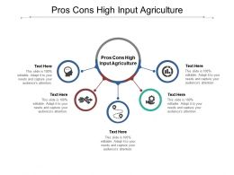 Pros Cons High Input Agriculture Ppt Powerpoint Presentation Pictures Infographics Cpb