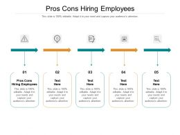 Pros Cons Hiring Employees Ppt Powerpoint Presentation Layouts Good Cpb