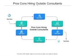 Pros Cons Hiring Outside Consultants Ppt Powerpoint Presentation Slides Clipart Cpb