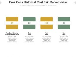 Pros Cons Historical Cost Fair Market Value Ppt Powerpoint Presentation Pictures Cpb