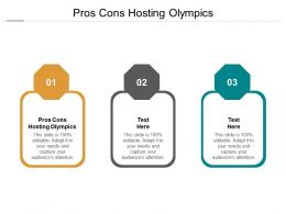 Pros Cons Hosting Olympics Ppt Powerpoint Presentation File Inspiration Cpb