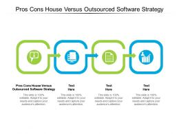 Pros Cons House Versus Outsourced Software Strategy Ppt Powerpoint Presentation Infographics Samples Cpb