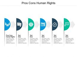 Pros Cons Human Rights Ppt Powerpoint Presentation Slides Clipart Images Cpb
