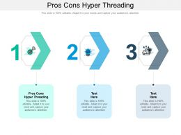 Pros Cons Hyper Threading Ppt Powerpoint Presentation Infographic Template Pictures Cpb