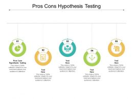 Pros Cons Hypothesis Testing Ppt Powerpoint Presentation Gallery Slides Cpb