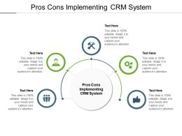 Pros Cons Implementing Crm System Ppt Powerpoint Presentation Icon Model Cpb