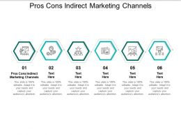 Pros Cons Indirect Marketing Channels Ppt Powerpoint Presentation Layouts Introduction Cpb