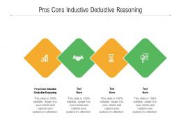 Pros Cons Inductive Deductive Reasoning Ppt Powerpoint Presentation File Slides Cpb