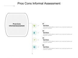 Pros Cons Informal Assessment Ppt Powerpoint Presentation Portfolio Gridlines Cpb