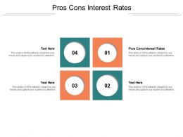 Pros Cons Interest Rates Ppt Powerpoint Presentation Pictures Inspiration Cpb