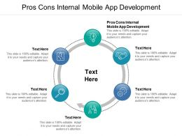 Pros Cons Internal Mobile App Development Ppt Powerpoint Presentation File Format Cpb