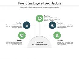 Pros Cons Layered Architecture Ppt Powerpoint Presentation Show Diagrams Cpb
