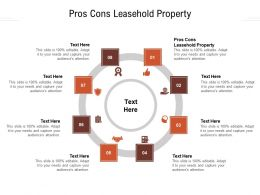 Pros Cons Leasehold Property Ppt Powerpoint Presentation Slides Good Cpb