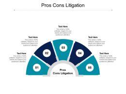 Pros Cons Litigation Ppt Powerpoint Presentation Pictures Deck Cpb