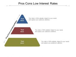 Pros Cons Low Interest Rates Ppt Powerpoint Presentation Summary Display Cpb