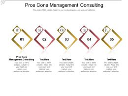 Pros Cons Management Consulting Ppt Powerpoint Presentation Outline Images Cpb