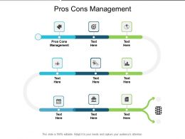 Pros Cons Management Ppt Powerpoint Professional Example Topics Cpb