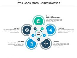 Pros Cons Mass Communication Ppt Powerpoint Presentation Professional Background Cpb