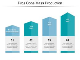 Pros Cons Mass Production Ppt Powerpoint Presentation Summary Demonstration Cpb