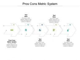 Pros Cons Metric System Ppt Powerpoint Presentation Layouts Icons Cpb