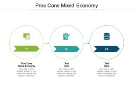 Pros Cons Mixed Economy Ppt Powerpoint Presentation Outline Rules Cpb