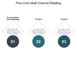 Pros Cons Multi Channel Retailing Ppt Powerpoint Presentation Layouts Format Ideas Cpb