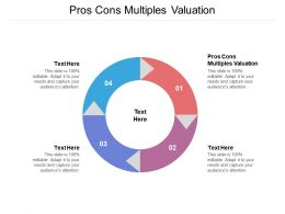 Pros Cons Multiples Valuation Ppt Powerpoint Presentation Icon Background Cpb