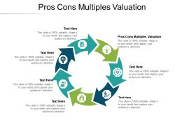 Pros Cons Multiples Valuation Ppt Powerpoint Presentation Portfolio Layout Ideas Cpb