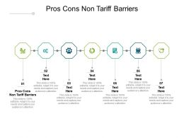 Pros Cons Non Tariff Barriers Ppt Powerpoint Presentation Summary Maker Cpb