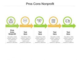 Pros Cons Nonprofit Ppt Powerpoint Presentation Professional Infographic Template Cpb