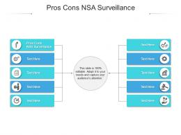 Pros Cons NSA Surveillance Ppt Powerpoint Presentation Model Graphic Tips Cpb