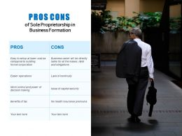 Pros Cons Of Sole Proprietorship In Business Formation
