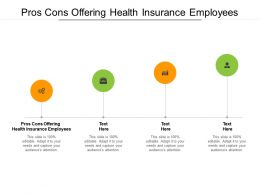 Pros Cons Offering Health Insurance Employees Ppt Powerpoint Presentation Layouts Mockup Cpb