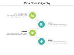 Pros Cons Oligarchy Ppt Powerpoint Presentation Infographics Slide Download Cpb
