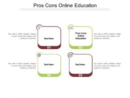 Pros Cons Online Education Ppt Powerpoint Presentation Show Display Cpb