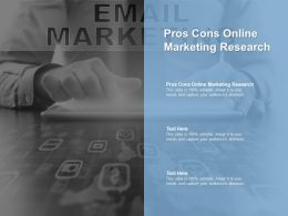 Pros Cons Online Marketing Research Ppt Powerpoint Presentation Icon Backgrounds Cpb