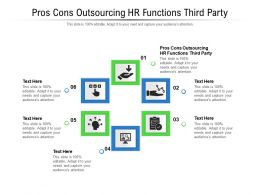 Pros Cons Outsourcing Hr Functions Third Party Ppt Powerpoint Inspiration Layouts Cpb