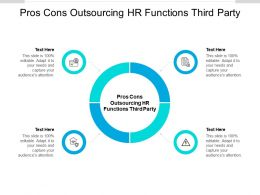 Pros Cons Outsourcing Hr Functions Third Party Ppt Powerpoint Presentation Gallery Slide Download Cpb