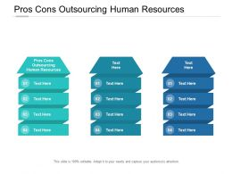 Pros Cons Outsourcing Human Resources Ppt Powerpoint Presentation Slides Cpb