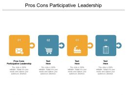 Pros Cons Participative Leadership Ppt Powerpoint Presentation Inspiration Cpb