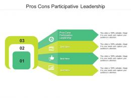 Pros Cons Participative Leadership Ppt Powerpoint Presentation Outline Guide Cpb